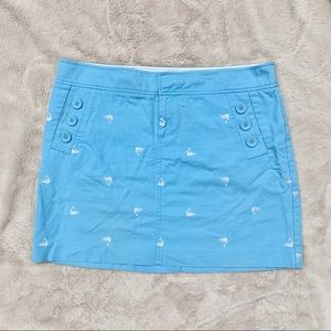 Lilly Pulitzer Shrimp Embroidery Mini Skirt-12